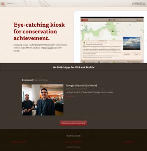 FireShot Screen Capture 072 Intridea www intridea com 292x300 - 50 sites corporativos para inspiração