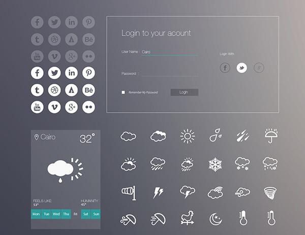 uikitmini - Download grátis iOS 7 Style UI Kit
