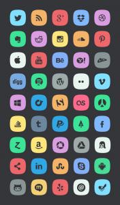 subtle social meida icons 600 176x300 - 45 ícones Subtle Social Media