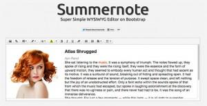 Summernote Super Simple jQuery WYSIWYG Editor on Bootstrap 300x154 - Top 15 melhores editores WYSIWYG HTML