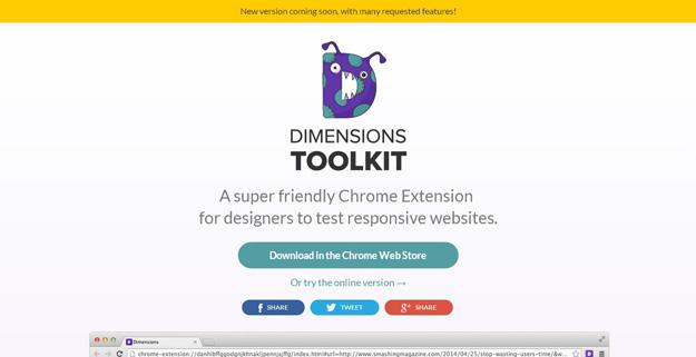 dimension toolkit - As mais úteis extensões Chrome para Designers & Developers