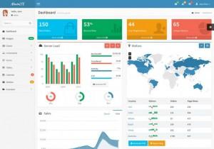 bootstrap admin theme 04 300x210 - 15 belos templates grátis para o seu admin em Bootstrap