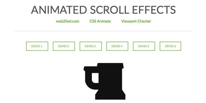 1 – Animated Scroll Effects - Os 15 melhores Plugins jQuery para criar efeito Scroll Animado com CSS