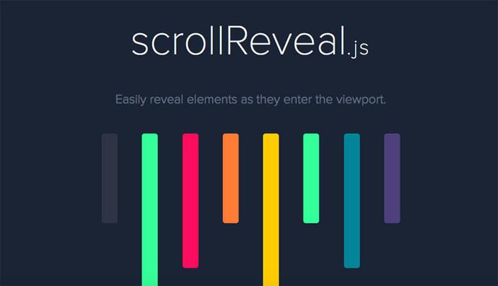 6 – scrollReveal - Os 15 melhores Plugins jQuery para criar efeito Scroll Animado com CSS
