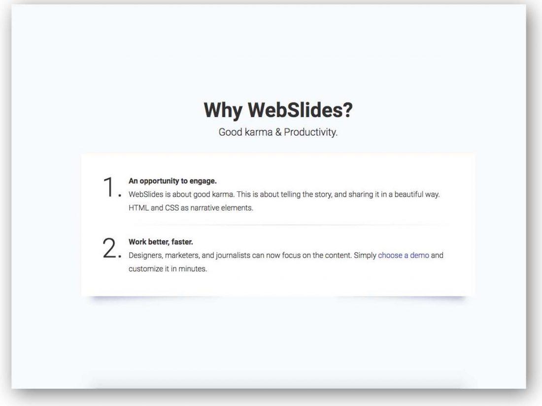 Webslides 1100x823 - Lista Top 10 com plugins para criar fantásticas apresentações utilizando apenas HTML 5 e CSS