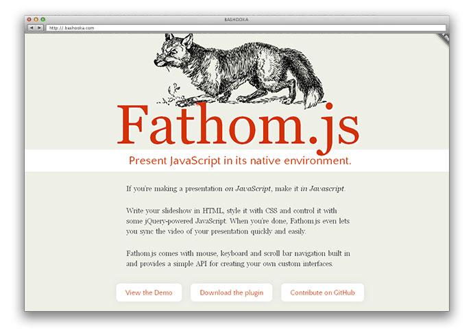 fathom 10 - Lista Top 10 com plugins para criar fantásticas apresentações utilizando apenas HTML 5 e CSS
