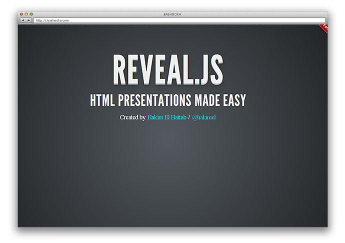 reveal 5 - Lista Top 10 com plugins para criar fantásticas apresentações utilizando apenas HTML 5 e CSS