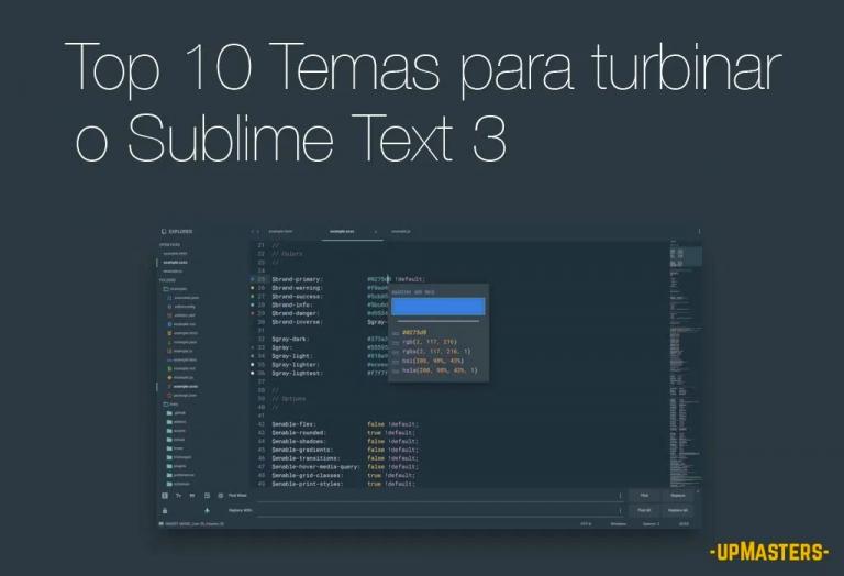 top10 sublime 1 768x524 - Os 10 melhores Temas (themes) que vão simplesmente turbinar a interface do Sublime Text 3 em 2020.