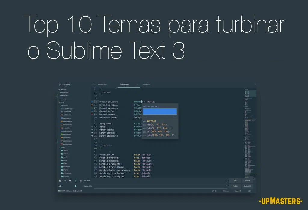 top10 sublime 1 - Os 10 melhores Temas (themes) que vão simplesmente turbinar a interface do Sublime Text 3 em 2020.