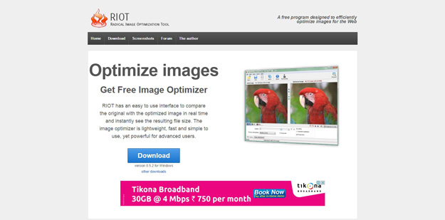 4 riot1 - 12 ferramentas para você compactar suas imagens e reduzir o tamanho em até 80%