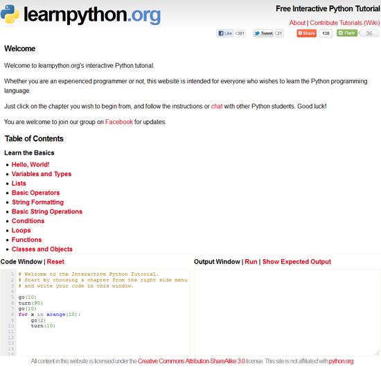 Learn Python - Os 6 melhores sites para aprender Python
