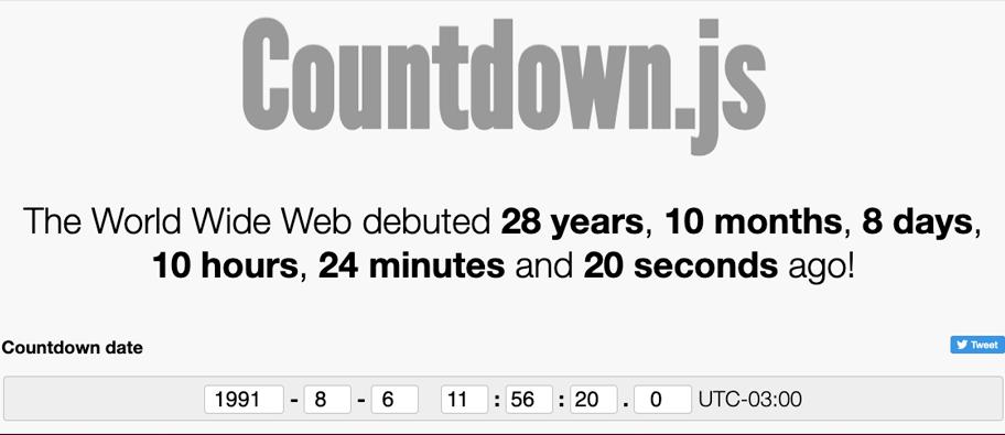 countdownjs - 6 bibliotecas para trabalhar com data em JavaScript