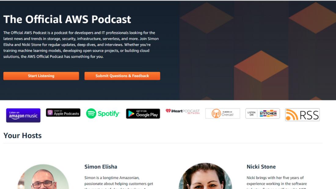 podcast aws 1100x619 - As melhores formas de aprender AWS de forma gratuita