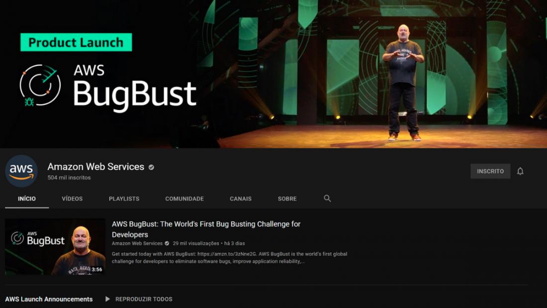 youtube aws 1100x619 - As melhores formas de aprender AWS de forma gratuita