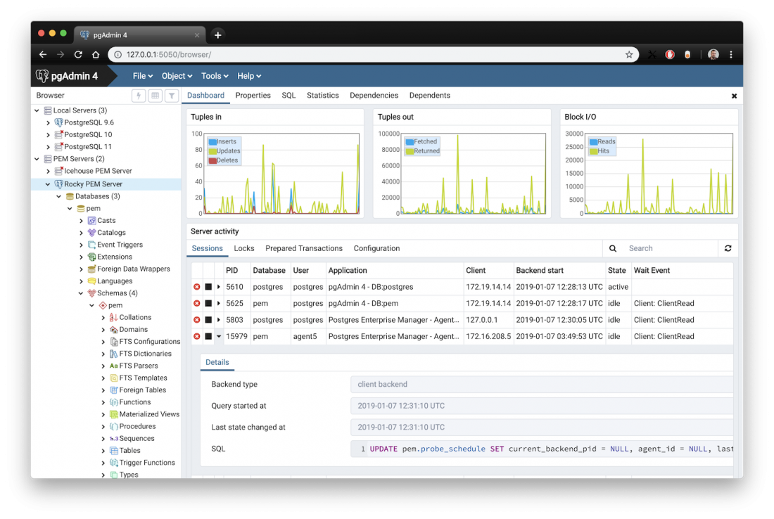 lista de ferramentas para administrar banco de dados postgresql pgadmin UI upmasters Blog 1100x738 - Lista de Ferramentas para Administrar Banco de dados PostgreSql