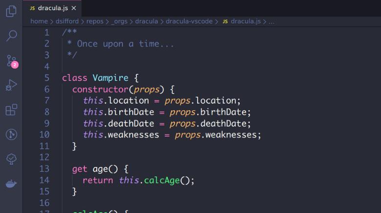 os melhores temas dark para visual studio code dracula - Os melhores temas dark para Visual Studio Code