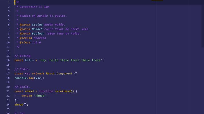 os melhores temas dark para visual studio code shades of purple - Os melhores temas dark para Visual Studio Code