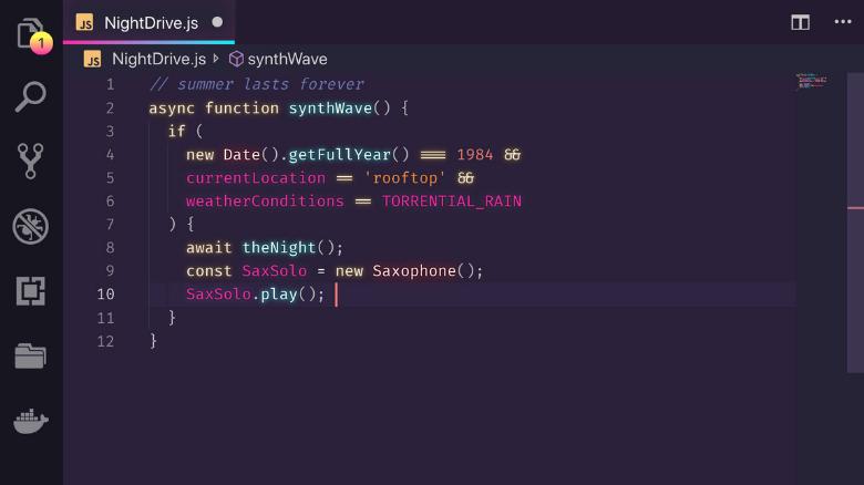 os melhores temas dark para visual studio code synthwave 84 - Os melhores temas dark para Visual Studio Code