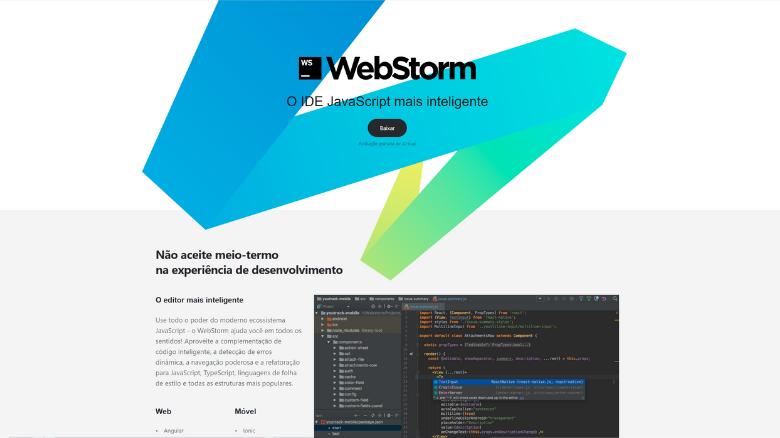 top lista das melhores ferramentas para desenvolvimento webstorm - Top 11 das melhores ferramentas utilizadas para desenvolvimento